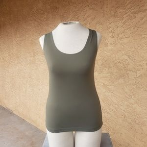 Small olive green tank